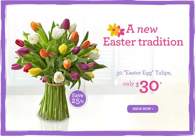 30 Easter Egg Tulips, $30