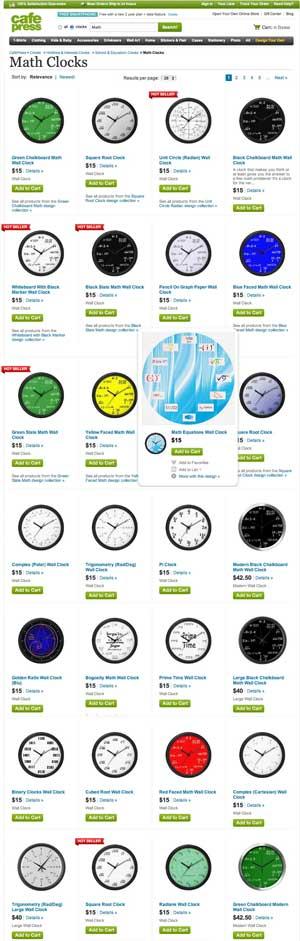 Cafe Press Wall Clocks
