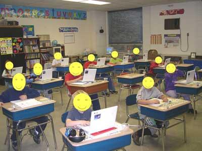 Laptops at Backwash Elementary