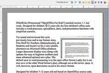 OOo4Kids word processor