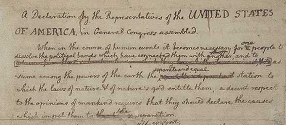 Rough Draft of Declaration