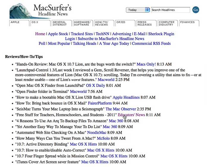 MacSurfer's Headline News