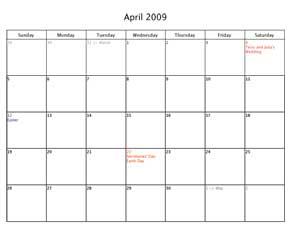Mom's Calendar