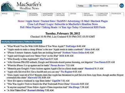 MacSurfer's Headline News