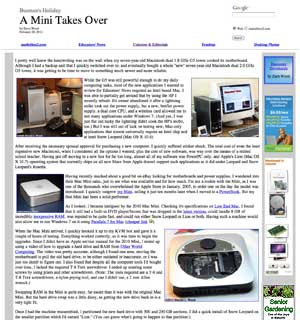 Mac Mini column