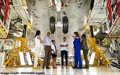 President and family at NASA
