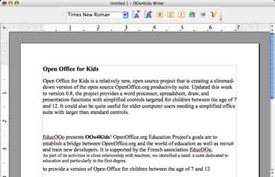 OpenOffice4Kids Write