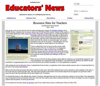 Resource Sites for Teachers