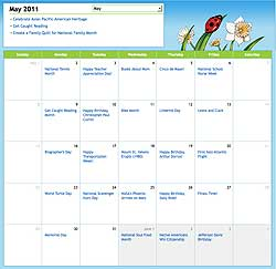 Scholastic May, 2011, Calendar