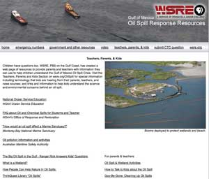 WSRE oil spill page