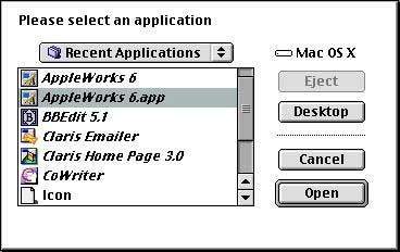 Select application