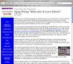 Jaguar Pricing Column