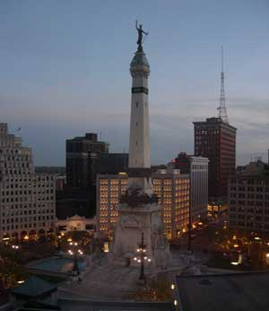 Indy at night
