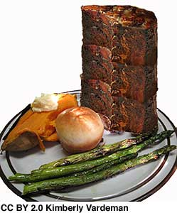 11 1/2 inch pork chop dinner