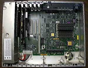 IIfx motherboard with tray removed