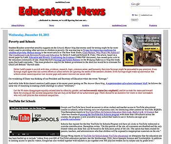 Educators' News - December 14, 2011