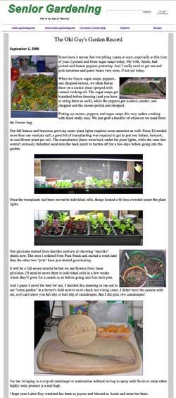 Senior Gardening - September